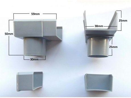 Fermeture gouttière en plastique, Pipe Popular & Silverline
